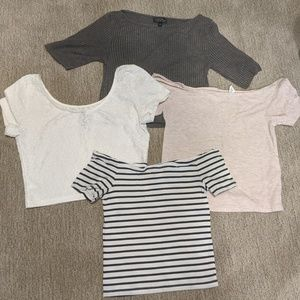 Lot of 4 women crop tops